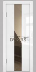 Дверь межкомнатная DO-510 Белый глянец/зеркало Бронза