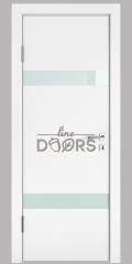 Дверь межкомнатная DO-502 Белый бархат/стекло Белое