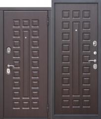 Входная металлическая дверь Ferroni 10 см МОНАРХ МДФ/МДФ Венге с МДФ панелями