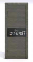 ШИ дверь DO-601 Ольха темная/стекло Черное