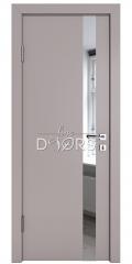 ШИ дверь DO-607 Серый бархат/Зеркало
