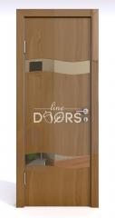 Дверь межкомнатная DO-503 Анегри темный/зеркало Бронза