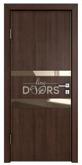 Дверь межкомнатная DO-512 Мокко/зеркало Бронза