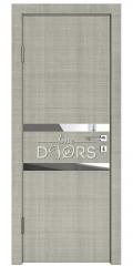 Дверь межкомнатная DO-513 Серый дуб/Зеркало