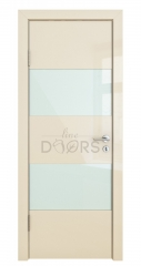 ШИ дверь DO-608 Ваниль глянец/стекло Белое