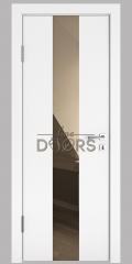 ШИ дверь DO-610 Белый бархат/зеркало Бронза
