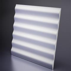 Гипсовая 3D панель HILLS Platinum материал глянец 600x600 мм