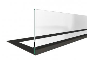 Стекло декоративное для биокамина серии Standart 720 для встраивания в портал