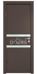 Дверь межкомнатная DO-513 Бронза/стекло Белое