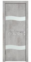 Дверь межкомнатная DO-503 Бетон светлый/Снег