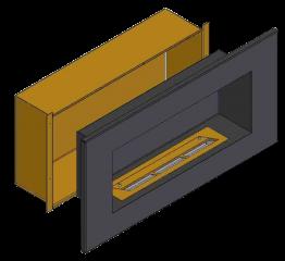 Теплоизоляционный корпус для встраивания в мебель для очага 1500 мм
