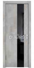 ШИ дверь DO-604 Бетон светлый/стекло Черное