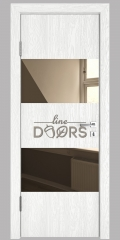 ШИ дверь DO-608 Белый глубокий/зеркало Бронза