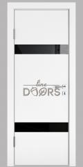 ШИ дверь DO-602 Белый бархат/стекло Черное
