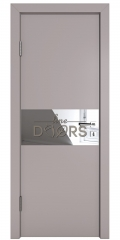 ШИ дверь DO-601 Серый бархат/Зеркало