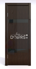 ШИ дверь DO-602 Венге глянец/стекло Черное