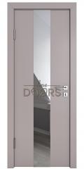 ШИ дверь DO-610 Серый бархат/Зеркало