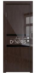 Дверь межкомнатная DO-513 Венге глянец/стекло Черное
