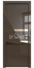 ШИ дверь DO-612 Шоколад глянец/зеркало Бронза