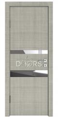 Дверь межкомнатная DO-512 Серый дуб/Зеркало