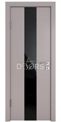 Дверь межкомнатная DO-510 Серый бархат/стекло Черное
