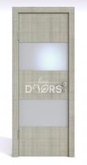 Дверь межкомнатная DO-508 Серый дуб/Снег