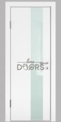 ШИ дверь DO-604 Белый бархат/стекло Белое