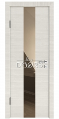 ШИ дверь DO-610 Ива светлая/зеркало Бронза